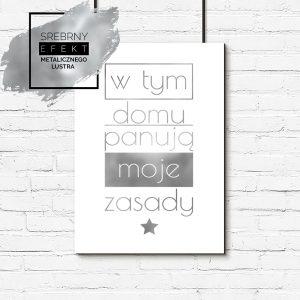 Srebrny plakat moje zasady