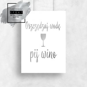 Srebrny plakat wino
