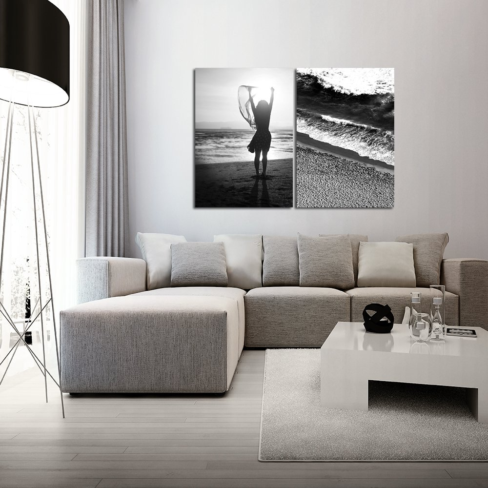 Plakaty Czarno Białe Z Motywem Morskim
