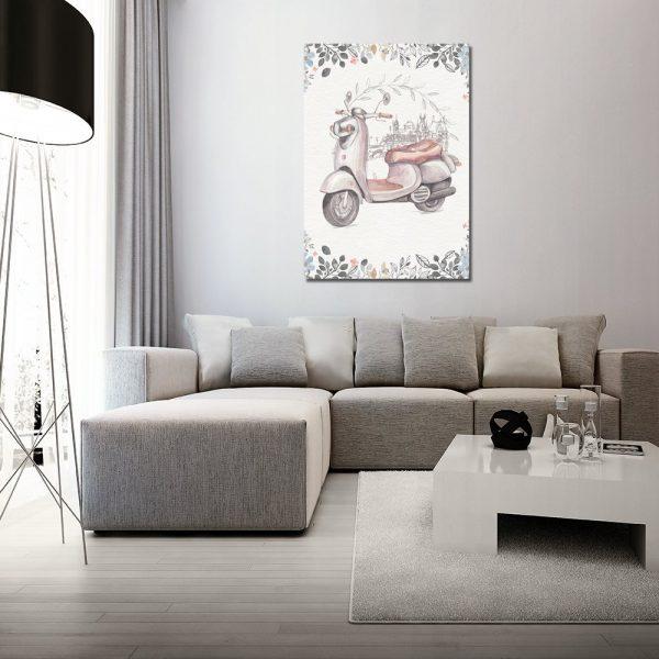 dekoracja w formie plakatu retro