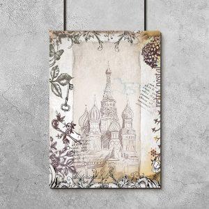 budynek Kreml na plakacie