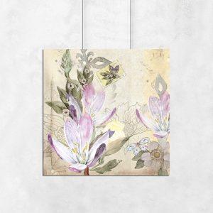 kolorowe kwiatki jako plakat