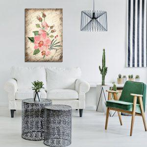 różowe kwiaty jako obraz