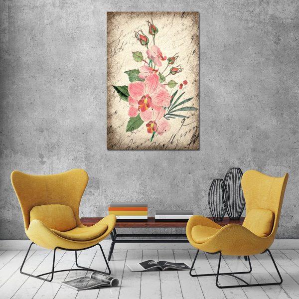 kwiaty kolorowe na obrazie