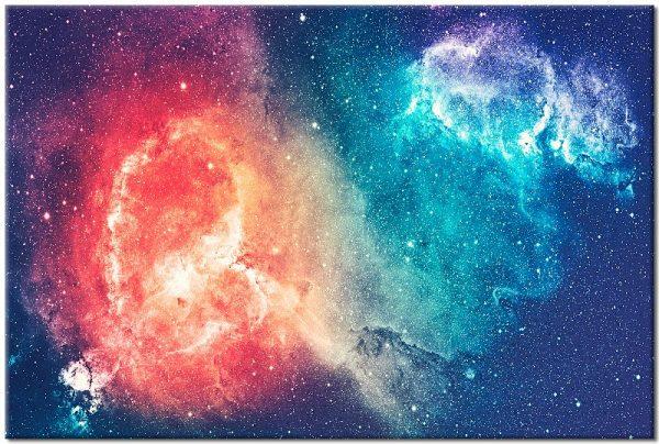 kosmos na kolorowym obrazie