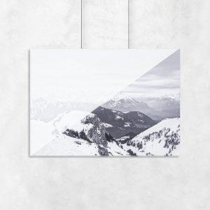 palkat z motywem ośnieżonych gór