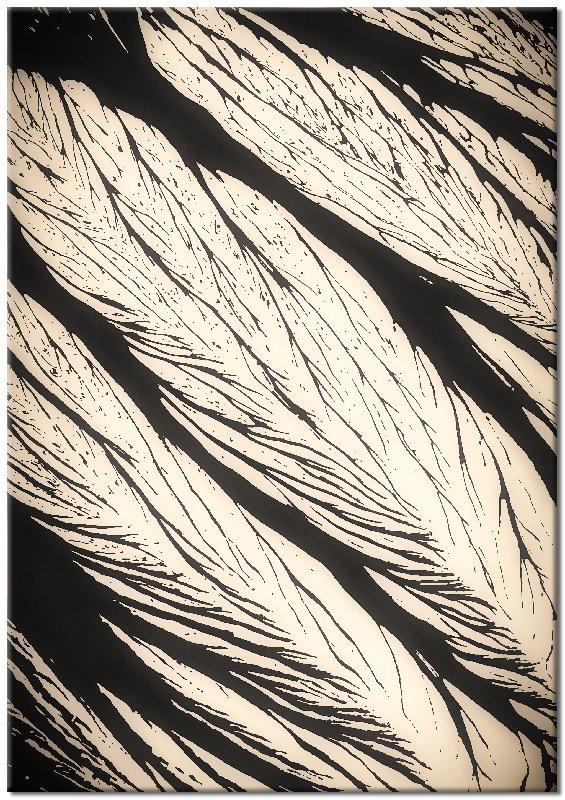pionowy plakat z motywem liści