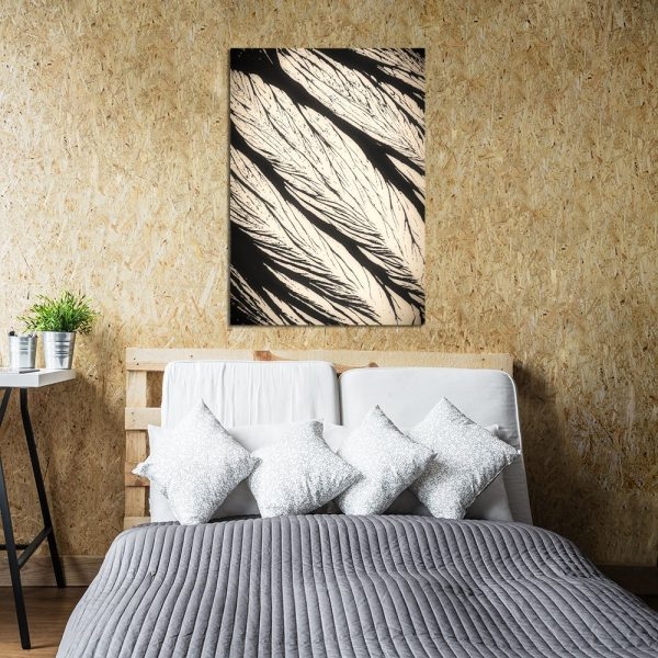 sypialnia z plakatem