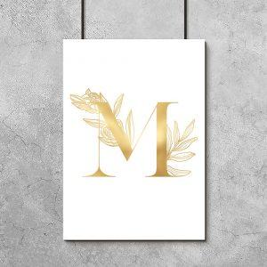 złota dekoracja na plakacie