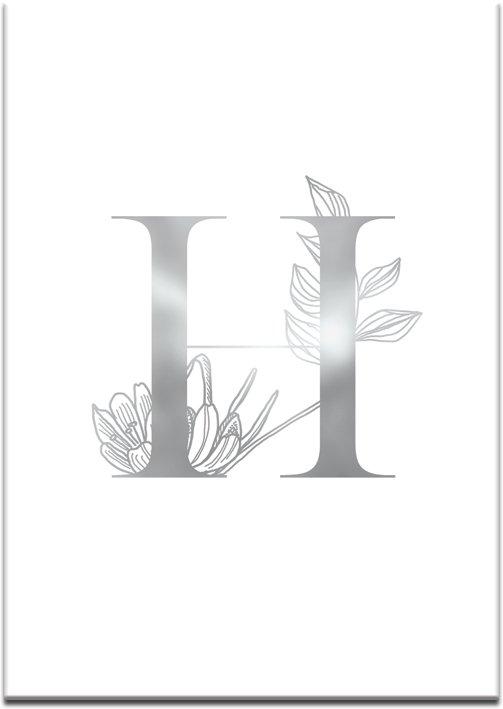plakat do salonu z literką H
