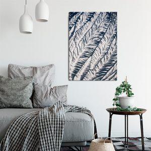 granatowa dekoracja do salonu