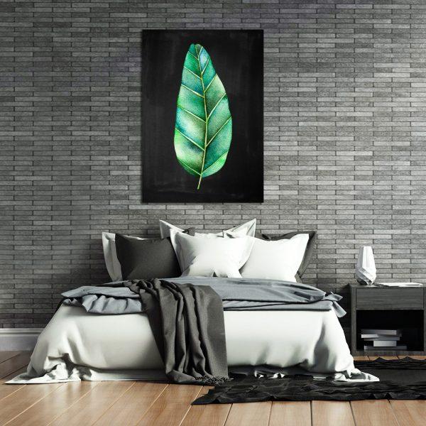 zielony obraz z liściem