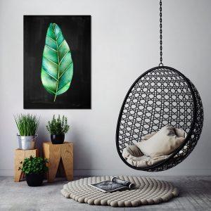 obraz zielony z motywem przyrody