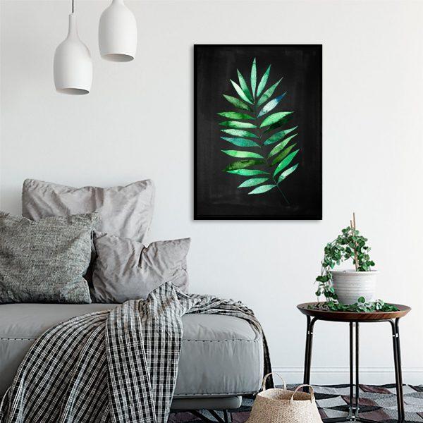 liść tropikalny w kolorze zielonym