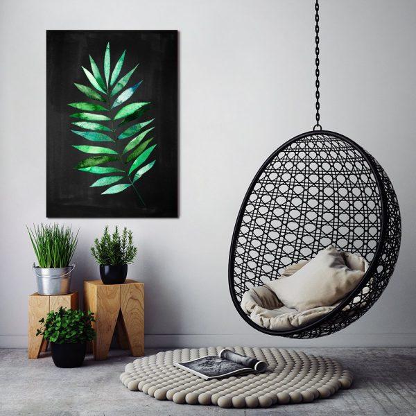 pionowy liść tropikalny
