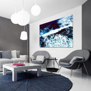 morskie fale jako dekoracja salonu