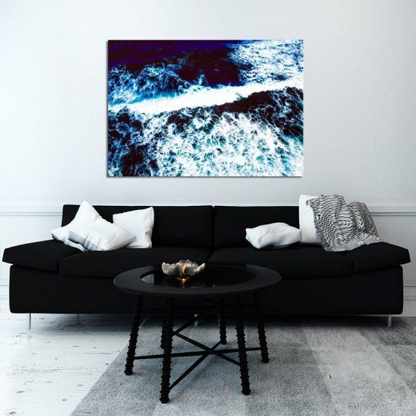 fale morskie na obrazie