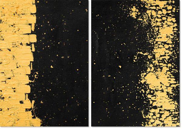 dyptyki z abstrakcją