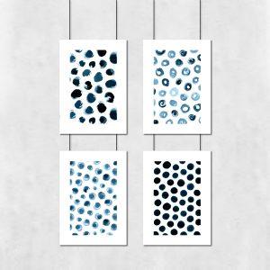 zestaw plakatów z abstrakcją