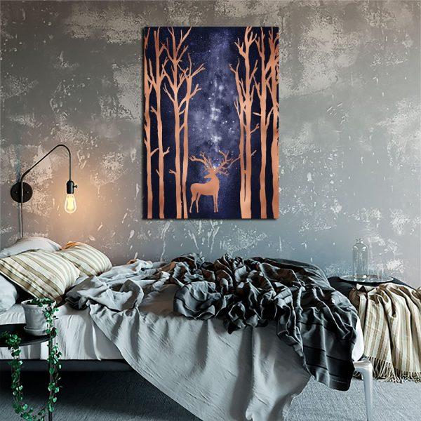 Plakat do sypialni z jeleniem