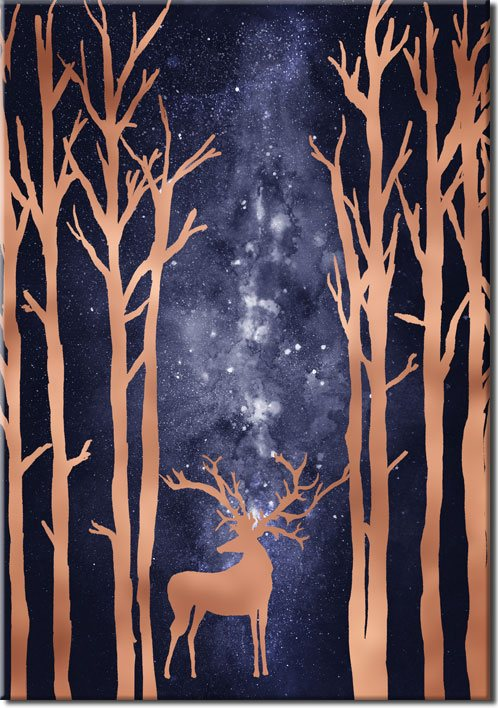 plakat noc gwiazdy jeleń