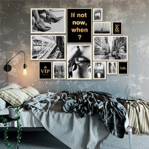 galeria złotych plakatów do sypialni