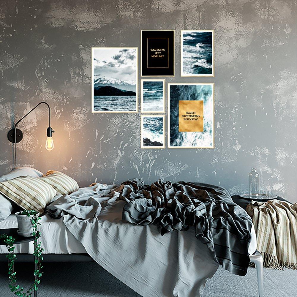 Plakaty Pozłacane To Nowoczesne Dekoracje Na ściany Kup W