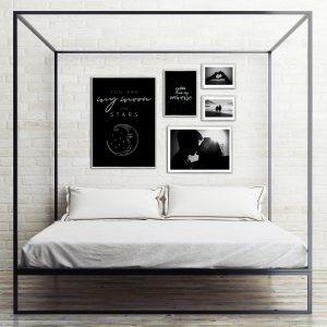 Srebrne Plakaty Do Sypialni Oprawione W Posrebrzane Ramy