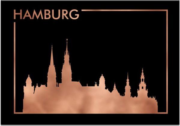 poziomy plakat z motywem Hamburga