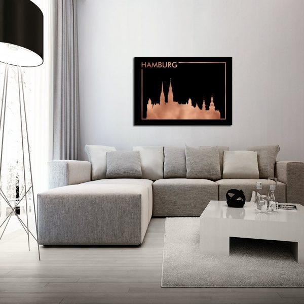 plakat z motywem Hamburga
