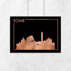 plakat poziomy z motywem Rzymu