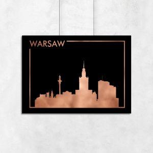 Warszawa na miedzianym plakacie