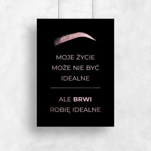 pionowy plakat metaliczny o brwiach