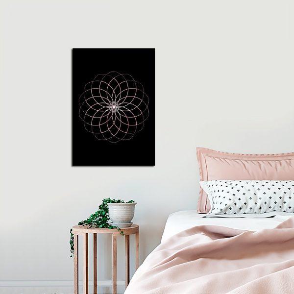 wzór geometryczny na plakacie