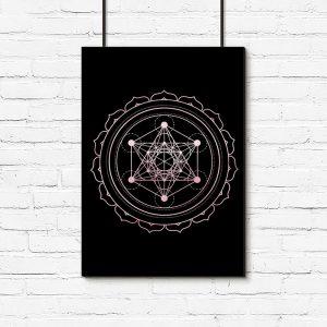 geometryczna mandala na plakacie
