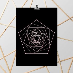 rose gold plakat