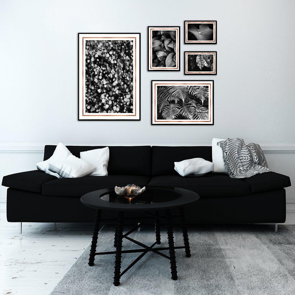 Galeria Miedzianych Plakatów Metalicznych Motywem Roślin