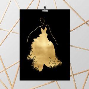 plakaty złote
