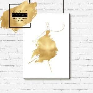 Złoty plakat glamour