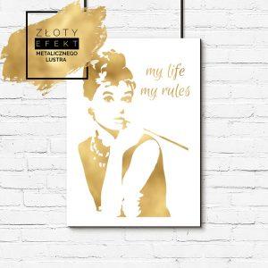 Złoty plakat z Audrey Hepburn