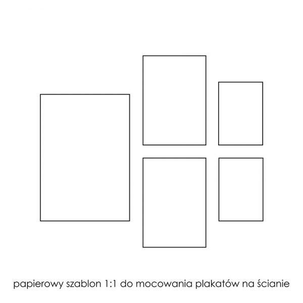 papierowy szablon do wieszania plakatów