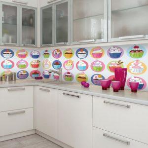 Foto-laminaty między szafki kuchenne