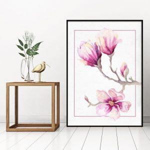 Plakaty różowe, fioletowe