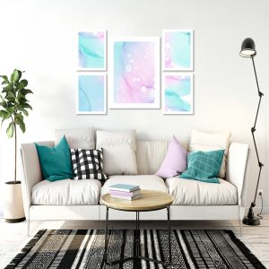 pastelowe plakaty do salonu
