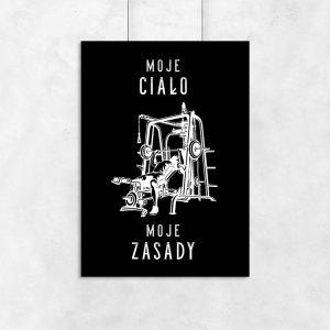 plakat z modnym tekstem