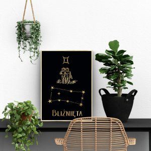 Plakaty pozłacane znaki zodiaku