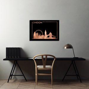 Miedziane plakaty miasta