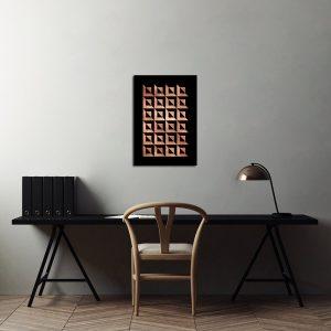 Miedziane plakaty abstrakcje