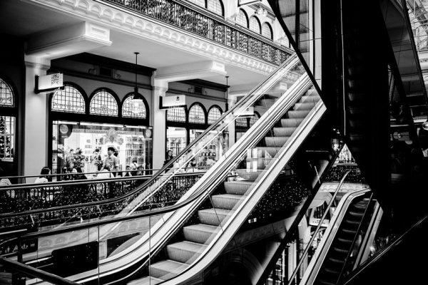 Tapeta z motywem ruchomych schodów