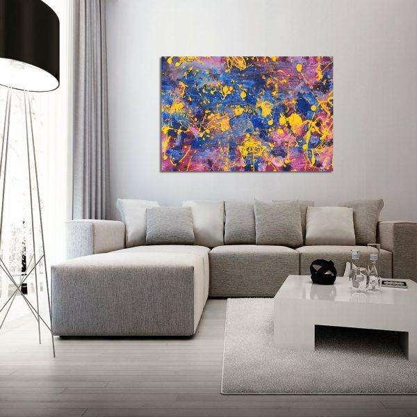 Kolorowy obraz do salonu